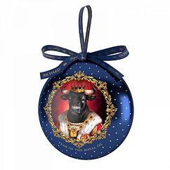 Новогодний чай Ричард с символом 2021 года Королевские Быки черный цейлонский 20 г в виде игрушки на елку
