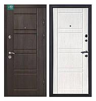 Вхідні двері ПК-09+ Beнгe cтрyктyрний/Дyб білeний