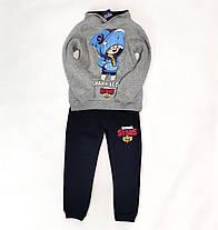 Бравл Старс brawl stars утепленный теплый костюм для мальчика кофта реглан штаны серый 6-7 лет, фото 2
