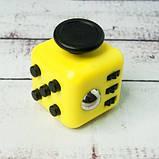 Фиджет Куб Fidget-Cube (антистресс) черный с желтыми кнопками, фото 2