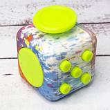 Фиджет Куб Fidget-Cube (антистресс) черный с желтыми кнопками, фото 5