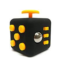Фиджет Куб Fidget-Cube (антистресс) черный с желтыми кнопками