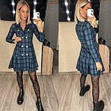 Трикотажное платье-пиджак в клетку 15-698, фото 2