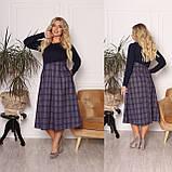 Трикотажное комбинированное платье 15-700, фото 3