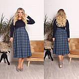 Трикотажное комбинированное платье 15-700, фото 4