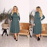 Платье из ангоры софт с карманами 15-701, фото 3