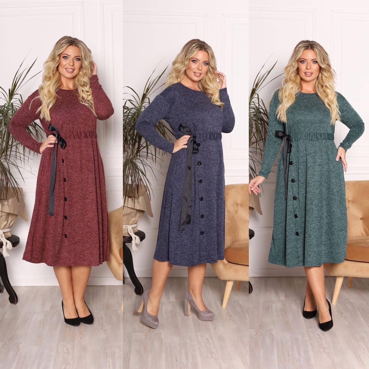 Платье из ангоры софт с карманами 15-701