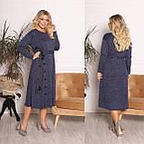 Платье из ангоры софт с карманами 15-701, фото 4