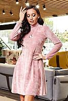 Платье 12-1651- розовый:  S M L XL, фото 1