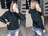 Теплый женский худи с капюшоном 15-760, фото 3