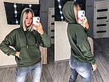 Теплый женский худи с капюшоном 15-760, фото 4