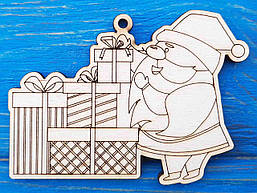 Игрушка на елку с символом года. Новогодние елочные игрушки из фанеры. Новый год 2022.