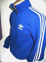 Мужской спортивный костюм Adidas - синий с лампасами