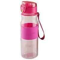 Пляшка для води 550 мл, спортивна пляшечка Рожевий