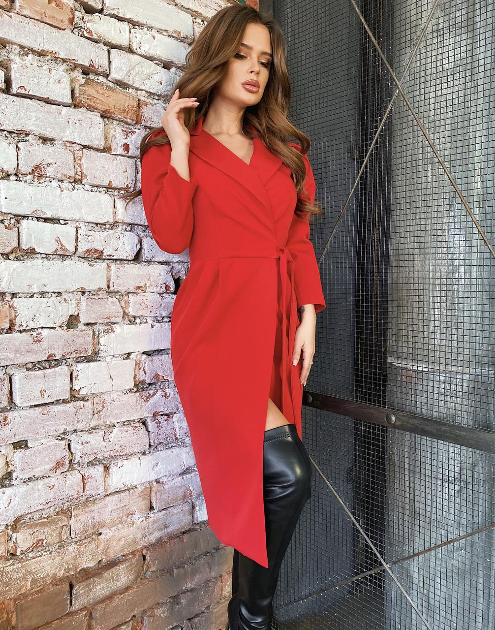 Плаття на запах червоне, арт.1055