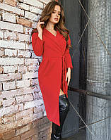 Плаття на запах червоне, арт.1055, фото 1