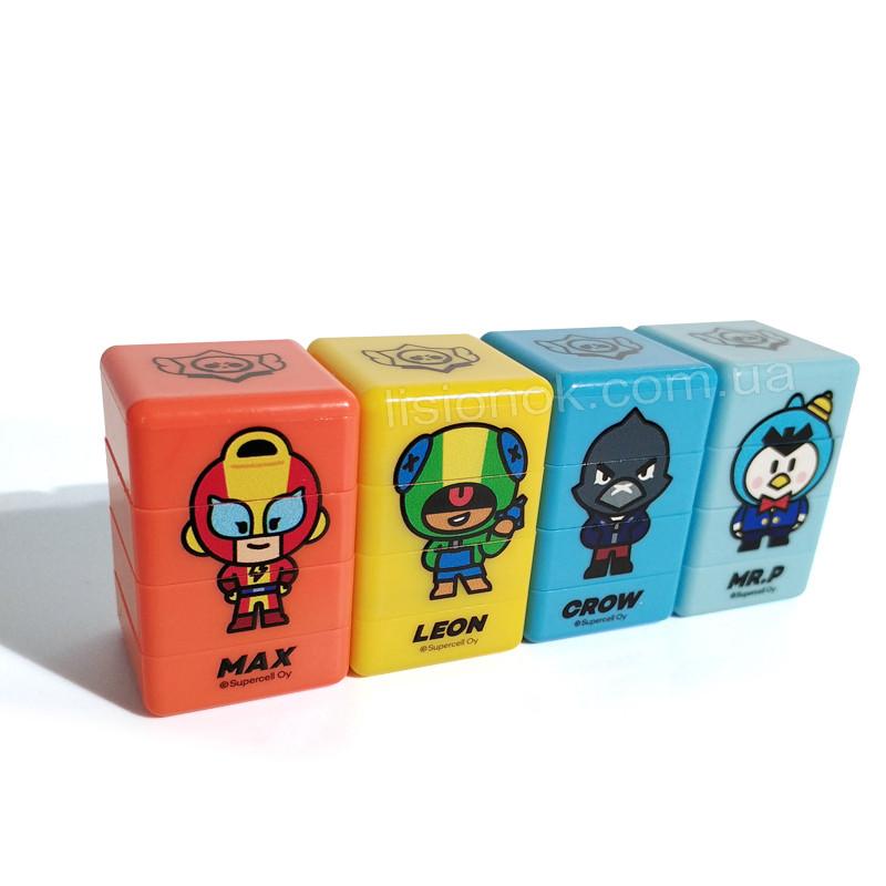 Печатки (штампи) Старс, з героями улюбленої гри, 3 різних малюнки і кольори в одній печатці