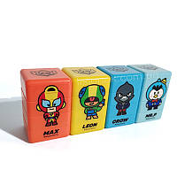 Печатки (штампи) Старс, з героями улюбленої гри, 3 різних малюнки і кольори в одній печатці, фото 1