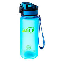 Пляшка для води SMILE 650 мл, пляшечка спортивна Синій