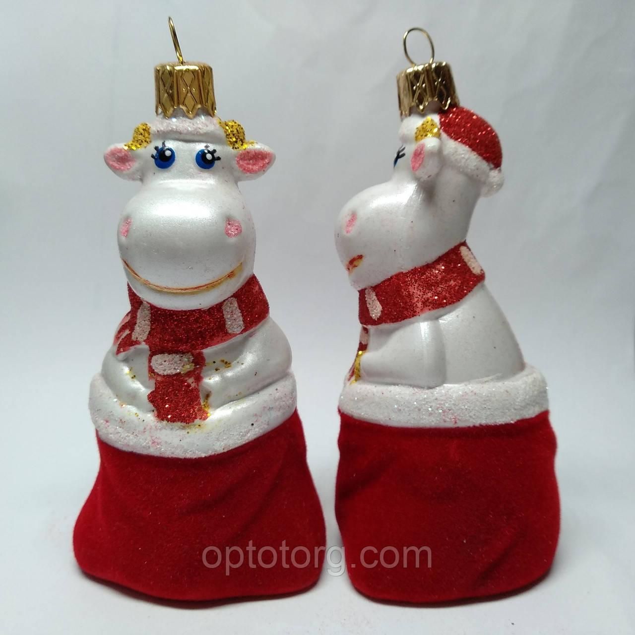 Новогодние игрушки  на елку Бычок в мешку