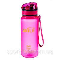 Пляшка для води SMILE 500 мл, пляшка для води Рожевий