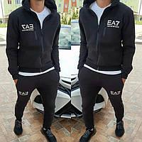 Модный тёплый молодёжный спортивный костюм реплика Armani 42-52 размер