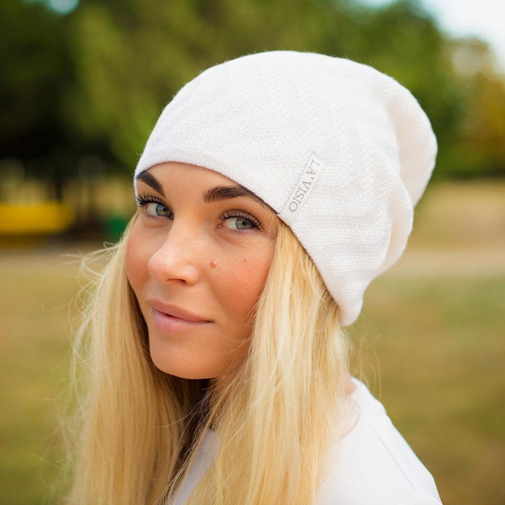 Женская вязаная шапка La Visio 344 двухсторонняя