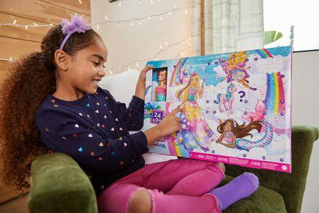 Барби dreamtopia рождественский календарь блондинка кукла 3 сказочных кукла мода