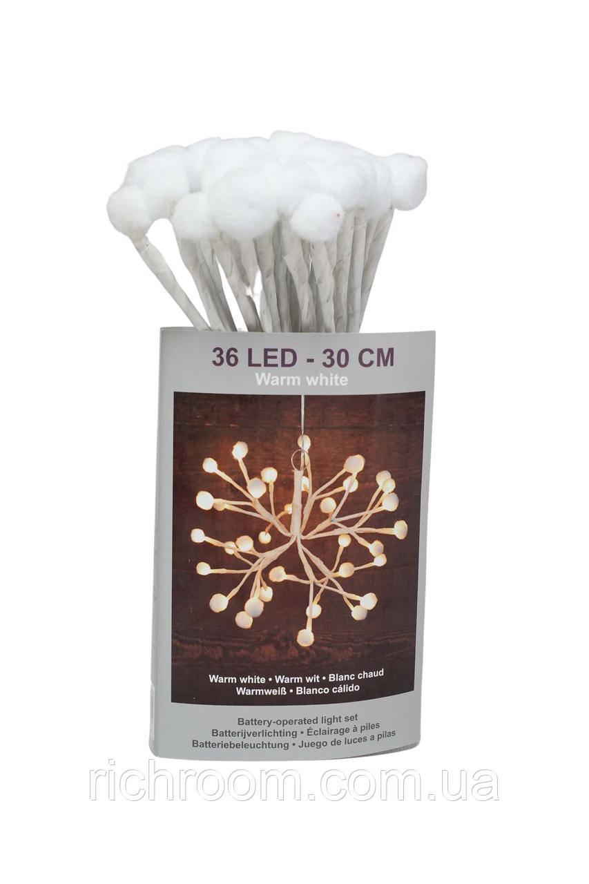 Светодиодная подвесная  гирлянда 36 LED  Christmas gifts, 30 см  на батарейках
