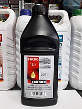 Синтетична гальмівна рідина FERODO DOT4 FBX100, 1л.
