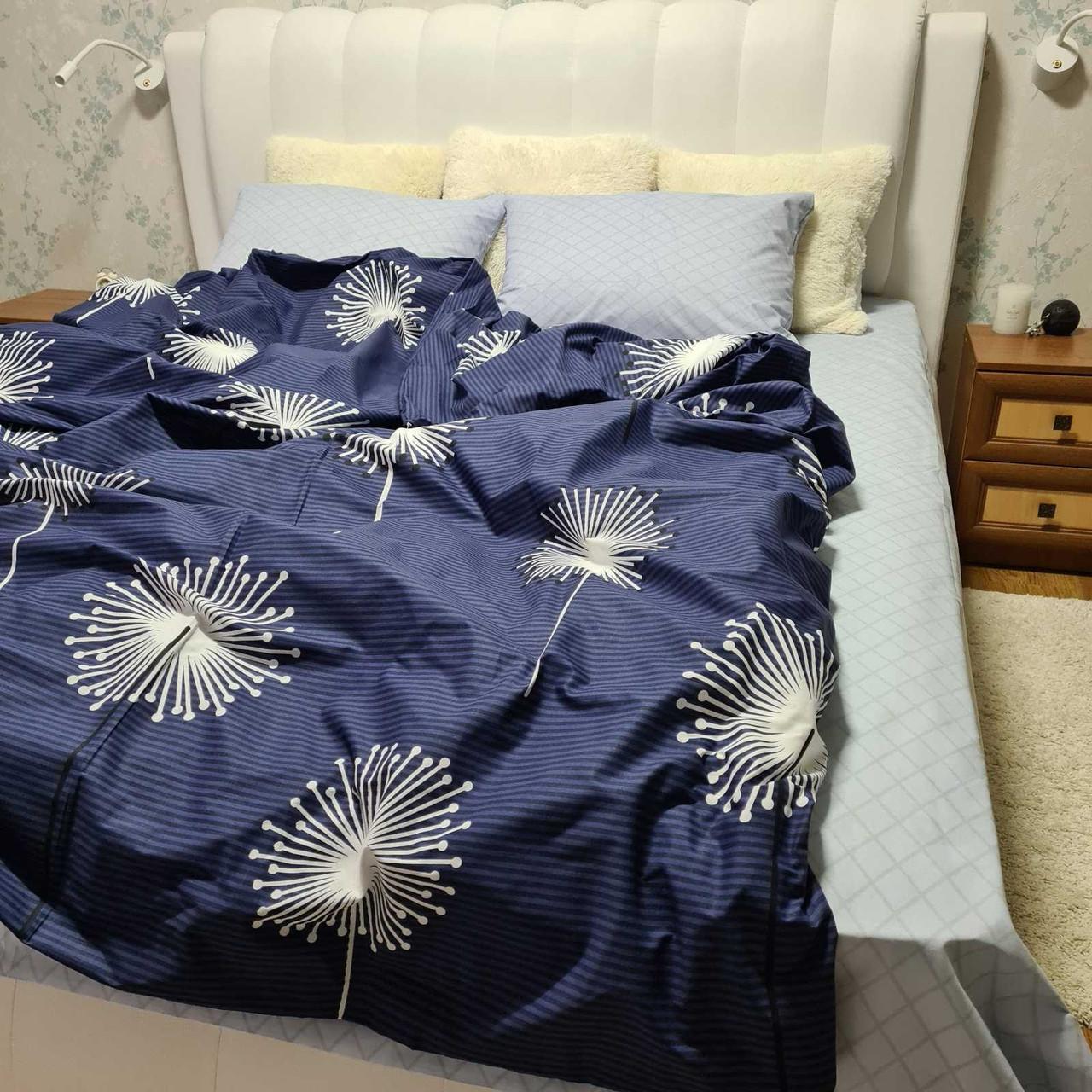Качественное постельное белье с одуванчиками, полуторка