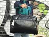 Мужская черная сумка из натуральной кожи David Jones, фото 2