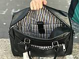 Мужская черная сумка из натуральной кожи David Jones, фото 4