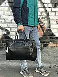 Мужская черная сумка из натуральной кожи David Jones, фото 5
