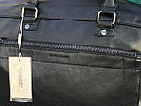 Мужская черная сумка из натуральной кожи David Jones, фото 6