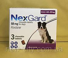 НексгарД \ NexGard  Жевательные таблетки для собак от блох и клещей 10-25кг 3 таб