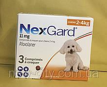 НексгарД \ NexGard  Жевательные таблетки для собак от блох и клещей 2-4кг 3 таб