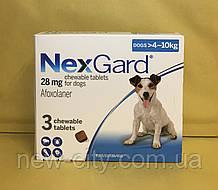 НексгарД \ NexGard  Жевательные таблетки для собак от блох и клещей 4-10кг 3 таб