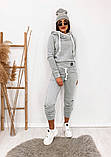Теплый женский спортивный костюм с капюшоном 35-371, фото 7
