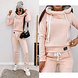 Теплый женский спортивный костюм с капюшоном 35-371, фото 4