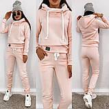 Теплый женский спортивный костюм с капюшоном 35-371, фото 2