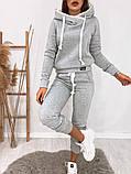 Теплый женский спортивный костюм с капюшоном 35-371, фото 3