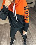 Теплый женский спортивный костюм с капюшоном 35-379, фото 6