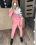 Теплый женский спортивный костюм с капюшоном 35-379, фото 4
