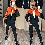 Теплый женский спортивный костюм с капюшоном 35-379, фото 3
