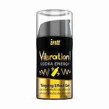 Возбуждающий гель (Жидкий вибратор) со вкусом энергетика с водкой Intt 15 мл - Love&Life