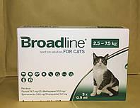 Broadline Бродлайн Капли на холку от блох и клещей для кошек от 2,5 до 7,5 кг (1 шт 0,9 мл)