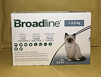Broadline Бродлайн Капли на холку от блох и клещей для кошек до 2,5 (1 шт 0,3 мл)