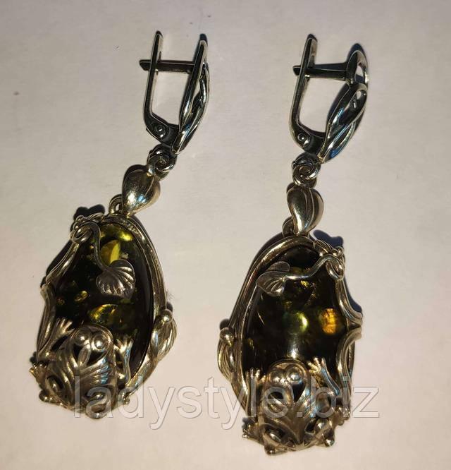 купити сережки з гранатом натуральні камені срібло прикраси подарунок сувенір ювілей