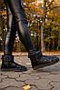 """Женские угги Ugg Classic Short Leather """"Black"""", фото 4"""